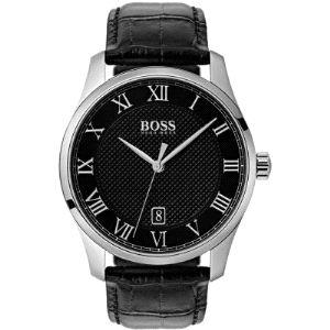 Reloj Hombre Master con esfera negra y piel
