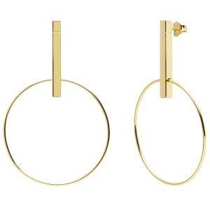 Pendientes Studio Gold de plata baño oro