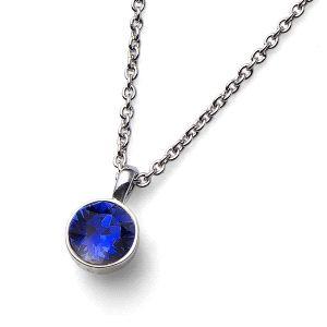 Colgante Uno cristal Swarovski sapphire