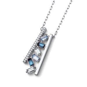 Gargantilla con cristal Swarovski azul