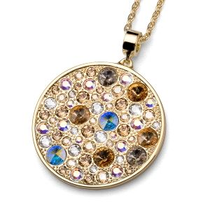 Collar multicolor con cristal Swarovski