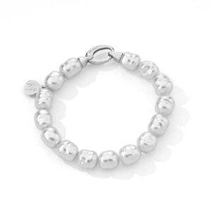 Pulsera Agora de plata con perlas barrocas