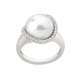 Anillo Exquisite de plata y perla