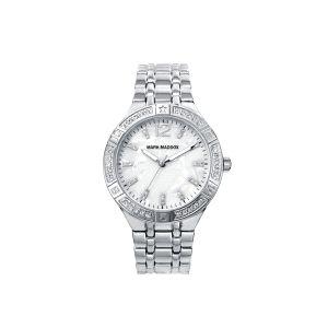 Reloj Mujer Clásico de acero y circonitas
