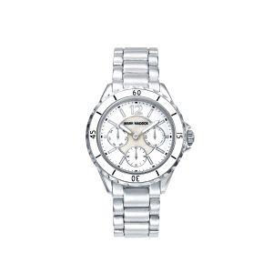 Reloj Mujer Multifunción blanco y acero