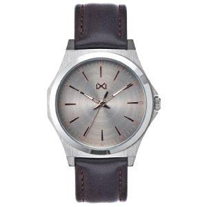 Reloj Hombre Clásico de piel marrón
