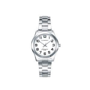 Reloj Mujer acero clásico con números