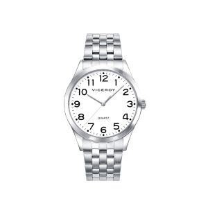 Reloj Hombre Clásico acero con números