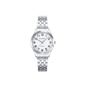 Reloj Mujer Clásico acero con números