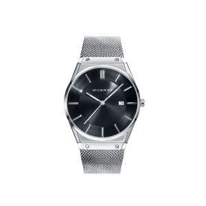 Reloj Hombre extraplano Air negro y acero