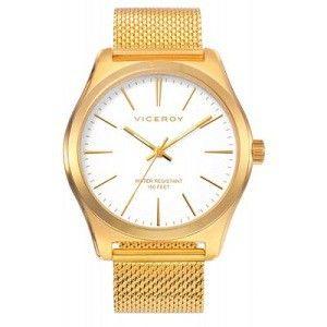 Reloj Hombre clásico dorado de milanesa