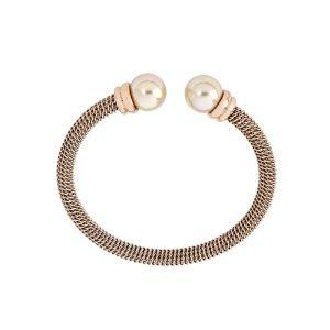 Pulsera rígida mujer -modern- con perlas