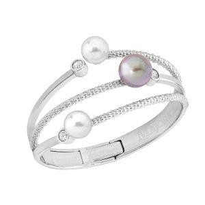 Pulsera -Planet- con perlas tricolor