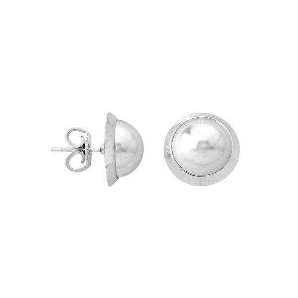 Pendientes orla de perla 10mm y plata