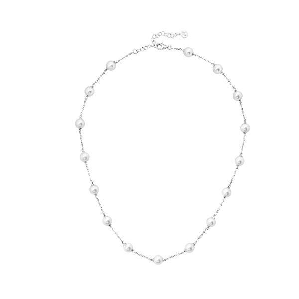 Gargantilla de plata con perlas de 8mm