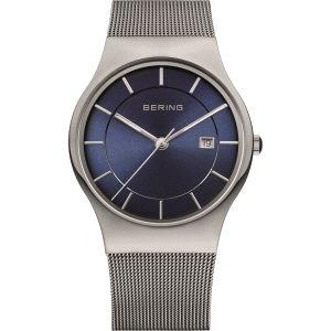 Reloj Hombre Classic azul y plateado