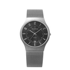 Reloj Cab. Grenen XL gris malla milanesa