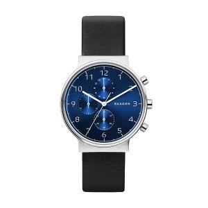Reloj Hombre Ancher azul con piel negro