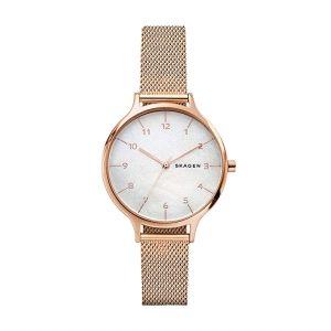 Reloj Mujer Anita en oro rosa con nacar