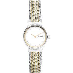 Reloj Mujer Freja con correa bicolor de milanesa