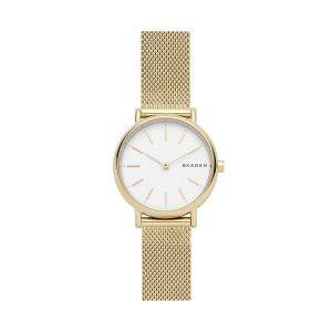 Reloj Mujer Signatur dorado y malla milanesa