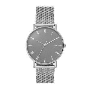 Reloj  Hombre Signatur gris y malla milanesa