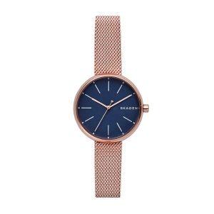 Reloj Mujer Signatur malla milanesa rosada