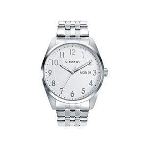 Reloj Hombre clásico de acero plateado