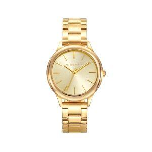 Reloj Mujer Chic clásico de acero y baño dorado
