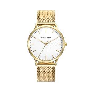 Reloj Mujer Kiss acero con baño de oro