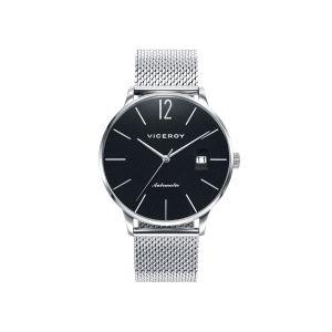 Reloj Hombre Automático negro con malla acero