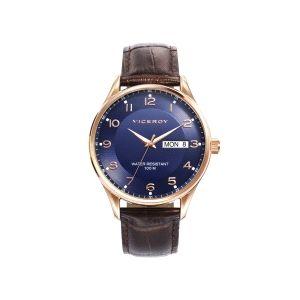 Reloj Hombre elegante de piel y acero
