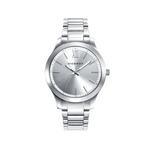 Reloj Mujer clasico de acero plateado