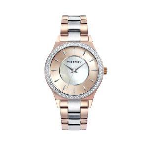 Reloj Mujer Chic acero bicolor