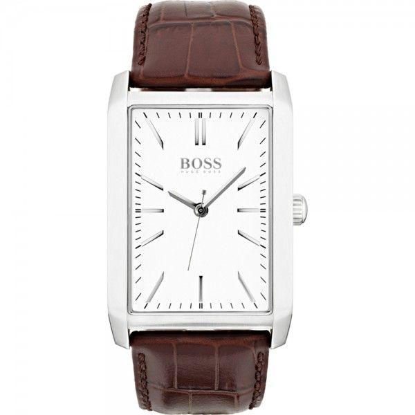 Reloj Hombre Grec rectangular piel marrón