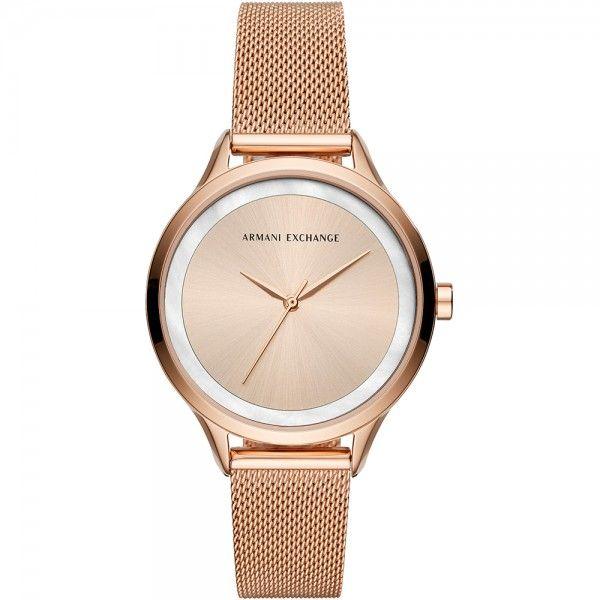 Reloj Mujer analógico en oro rosa y acero