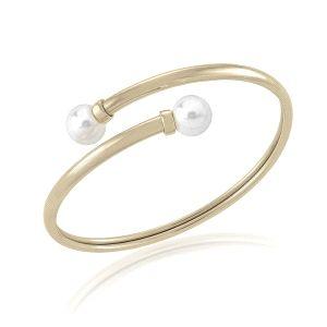 Pulsera de perlas Galatea dorada
