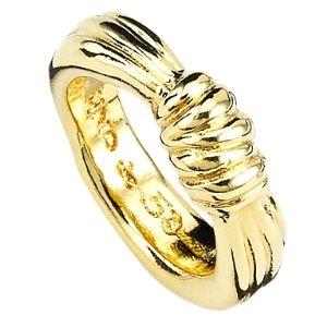 Anillo Knot Knot con baño de oro