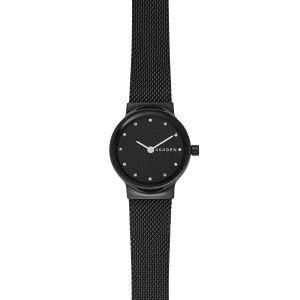 Reloj Mujer Freja negro con milanesa