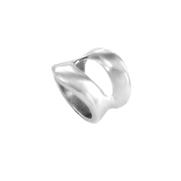 Anillo -Pezailla- grueso con baño plata