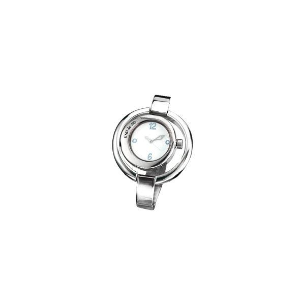 Reloj -Ahora o Nunca- plateado de cuero