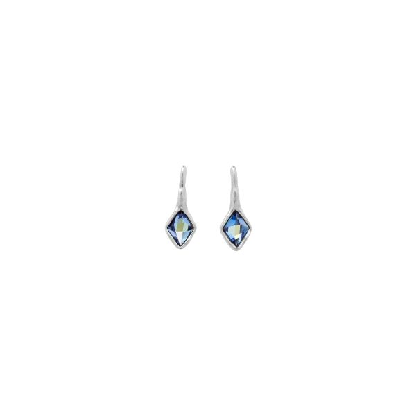 Pendientes plateado -Estalactita- azul