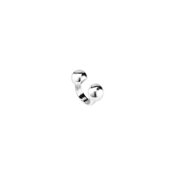 Anillo -Zen- con metal bañado en plata