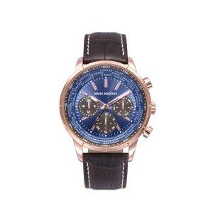 Reloj Hombre Casual azul de piel