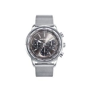 Reloj Hombre acero gris multifunción