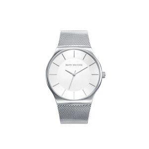 Reloj Hombre acero plata malla milanesa
