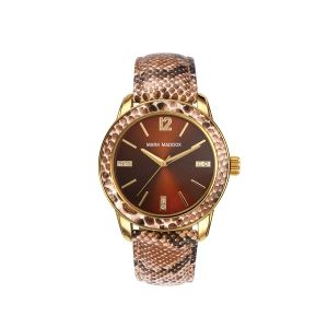 Reloj Mujer de acero correa animal print