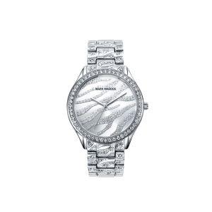 Reloj Mujer de acero plateado y circonitas