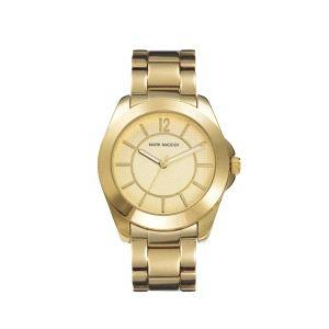 Reloj Mujer de acero dorado
