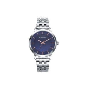 Reloj Mujer de acero y esfera azul